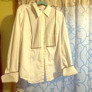 Lane Bryant tuxedo style blouse